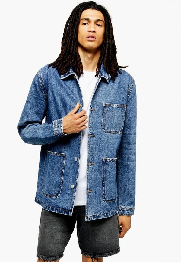 мужская джинсовые куртка topman, синяя