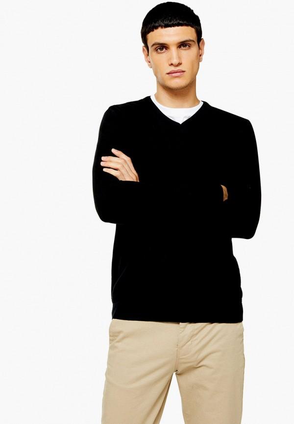 мужской пуловер topman, черный