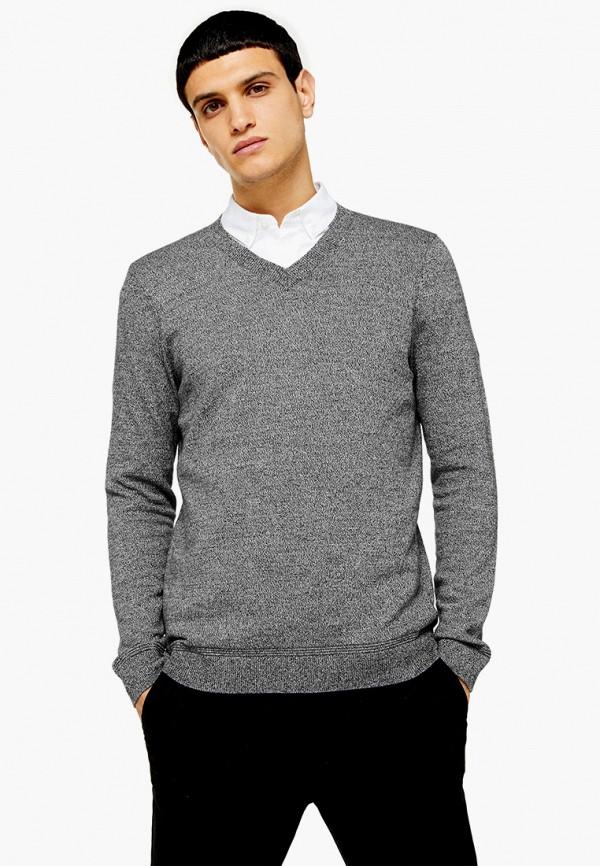 мужской пуловер topman, серый