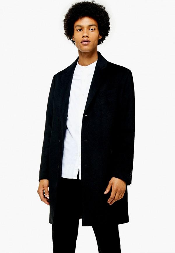 мужское пальто topman, черное