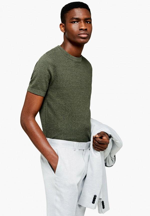 мужской джемпер topman, зеленый