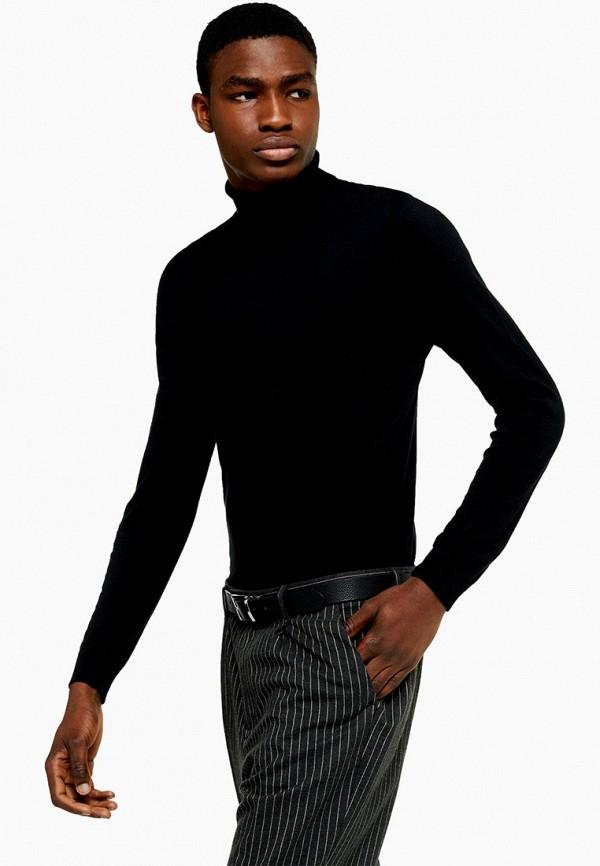 мужская водолазка topman, черная