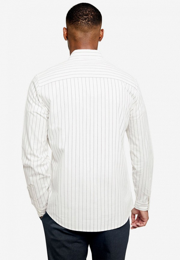 Фото 2 - мужскую рубашку Topman белого цвета