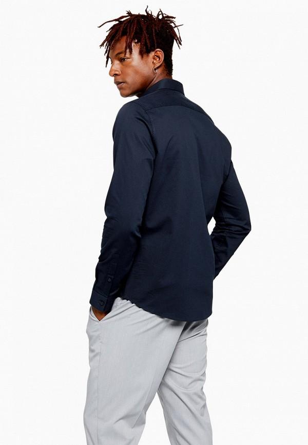 Фото 2 - мужскую рубашку Topman синего цвета
