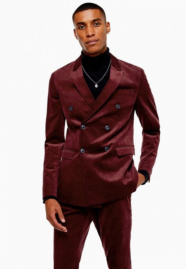 мужской пиджак topman, бордовый
