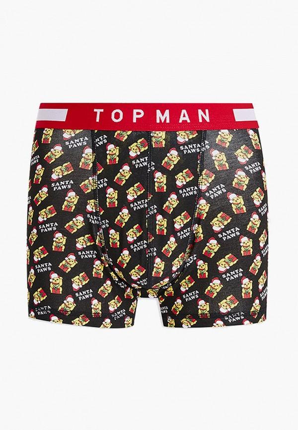 мужские трусы-боксеры topman, черные