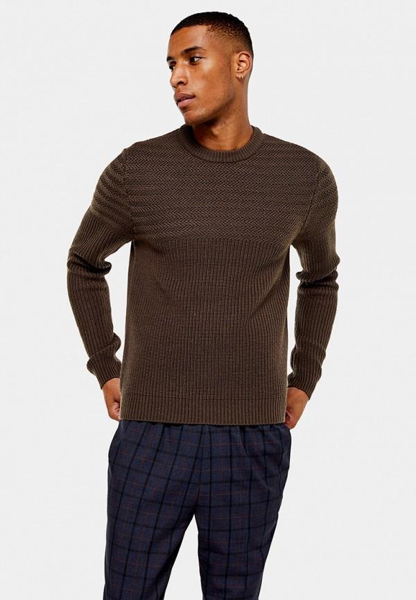 мужской джемпер topman, коричневый