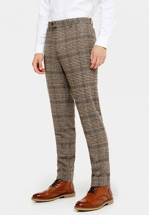 мужские классические брюки topman, коричневые