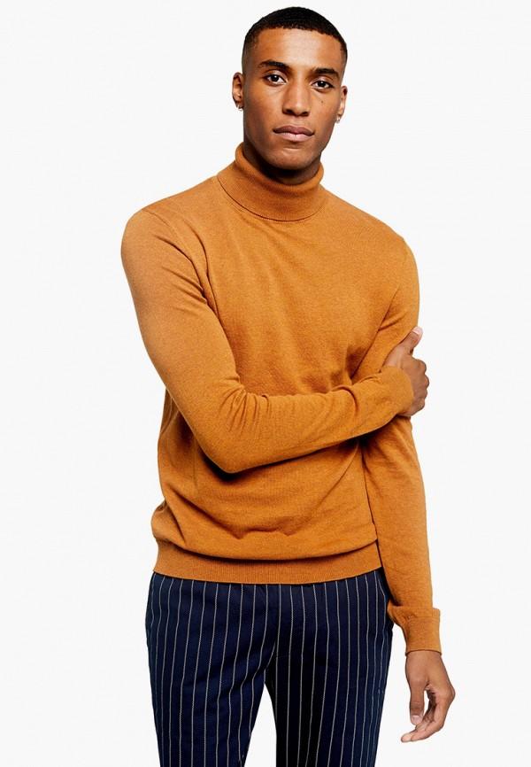 мужская водолазка topman, оранжевая