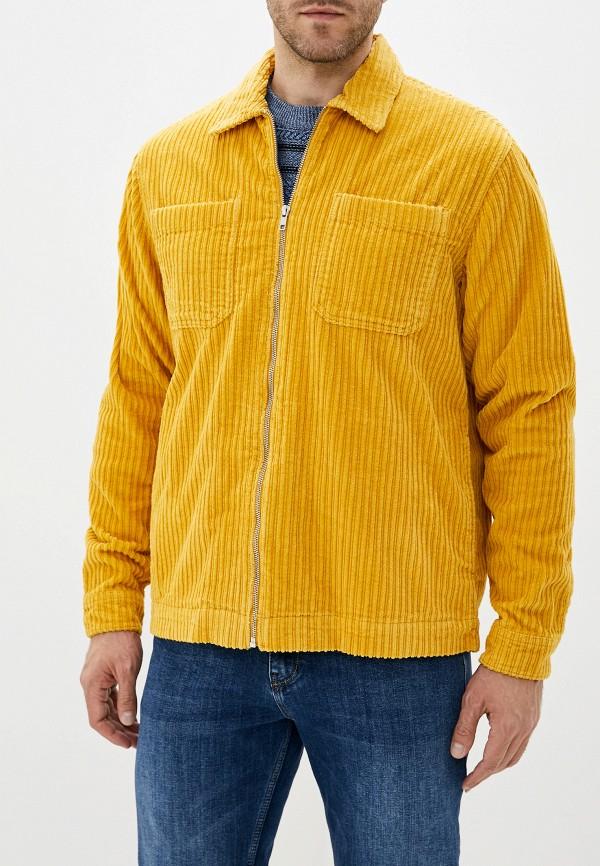 мужская куртка topman, желтая