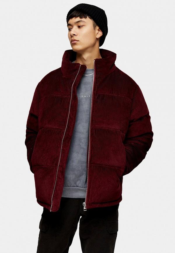 мужская куртка topman, бордовая