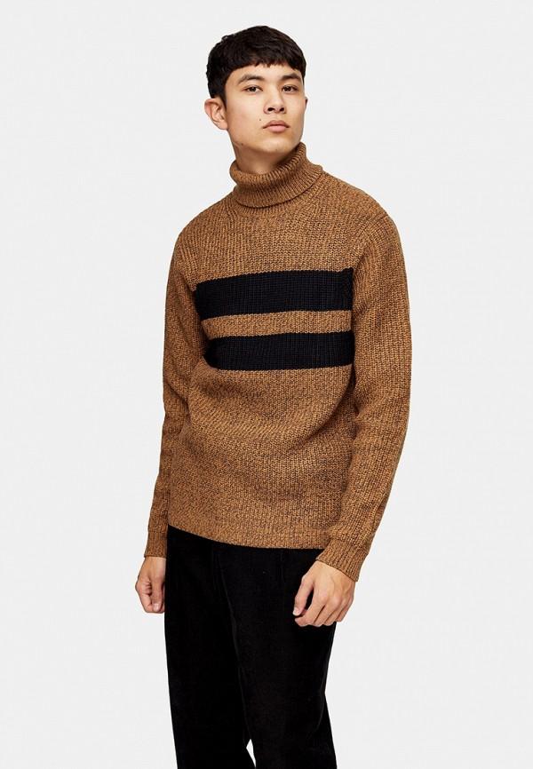 мужской свитер topman, коричневый