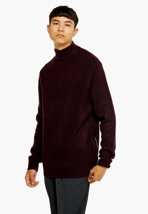 мужской свитер topman, бордовый