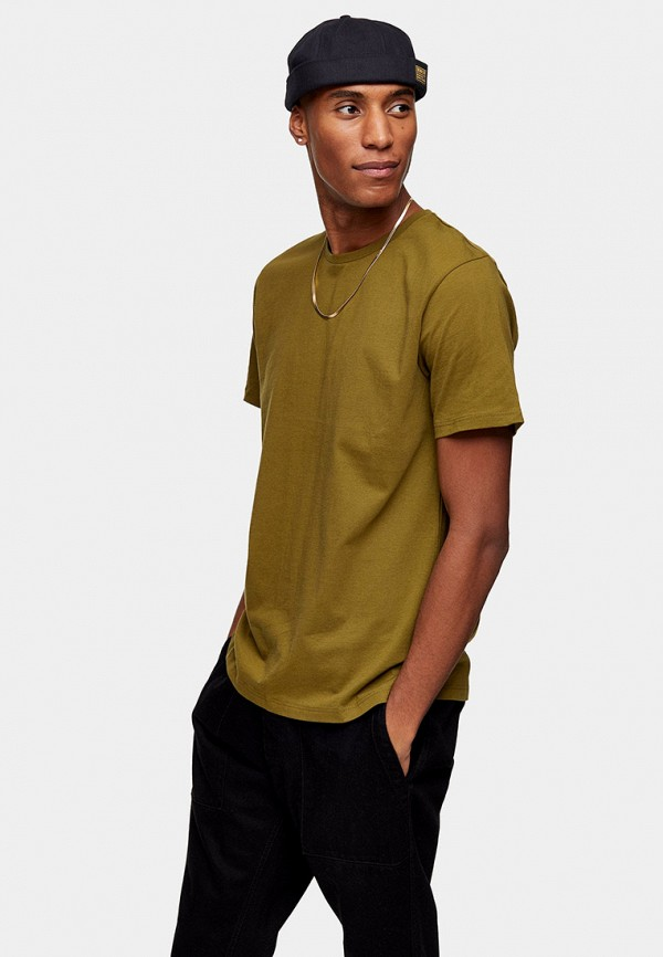 мужская футболка с коротким рукавом topman, хаки