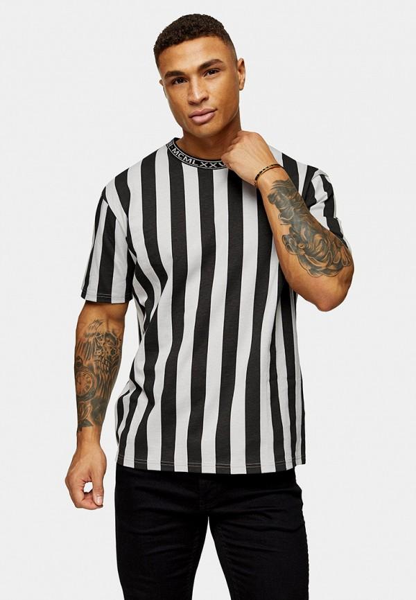 мужская футболка с коротким рукавом topman, черная