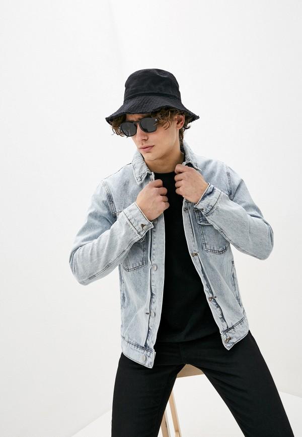 мужская джинсовые куртка topman, голубая