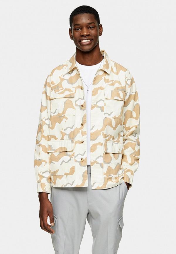 мужская куртка topman, бежевая