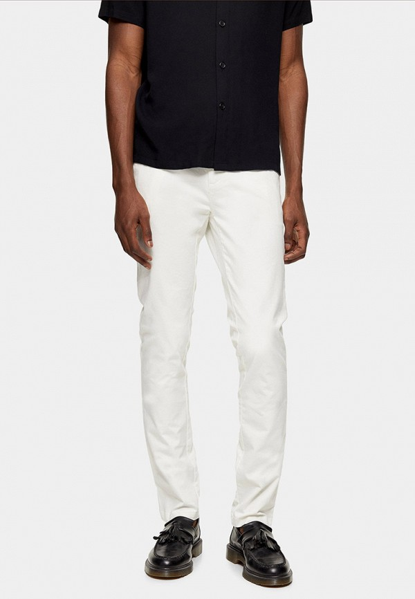 мужские зауженные джинсы topman, белые