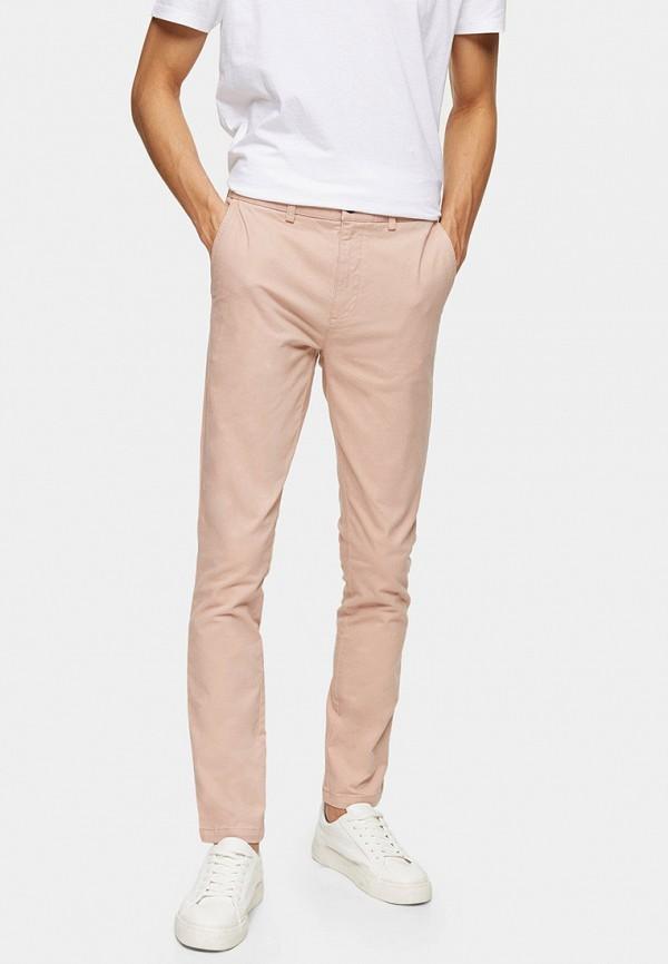 мужские повседневные брюки topman, розовые