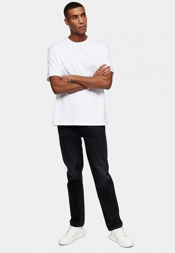 мужские прямые джинсы topman, черные