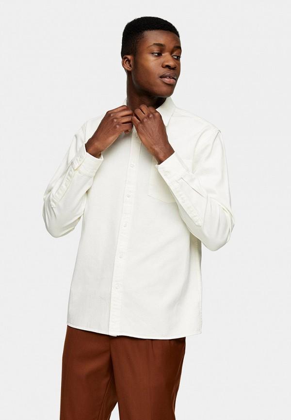 мужская рубашка с длинным рукавом topman, белая