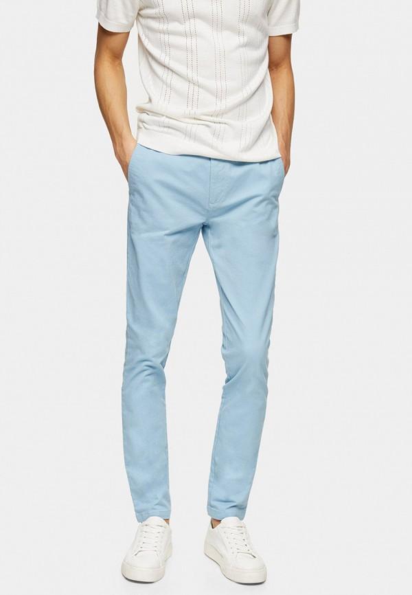 мужские прямые брюки topman, голубые
