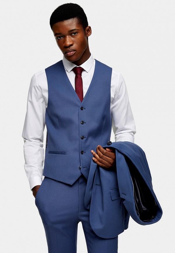мужской жилет topman, синий