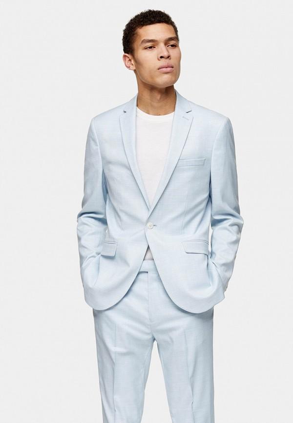 мужской пиджак topman, голубой