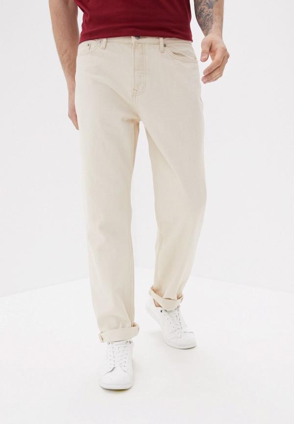 мужские прямые брюки topman, бежевые