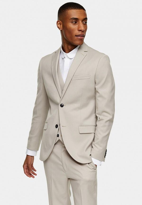 мужской пиджак topman, бежевый