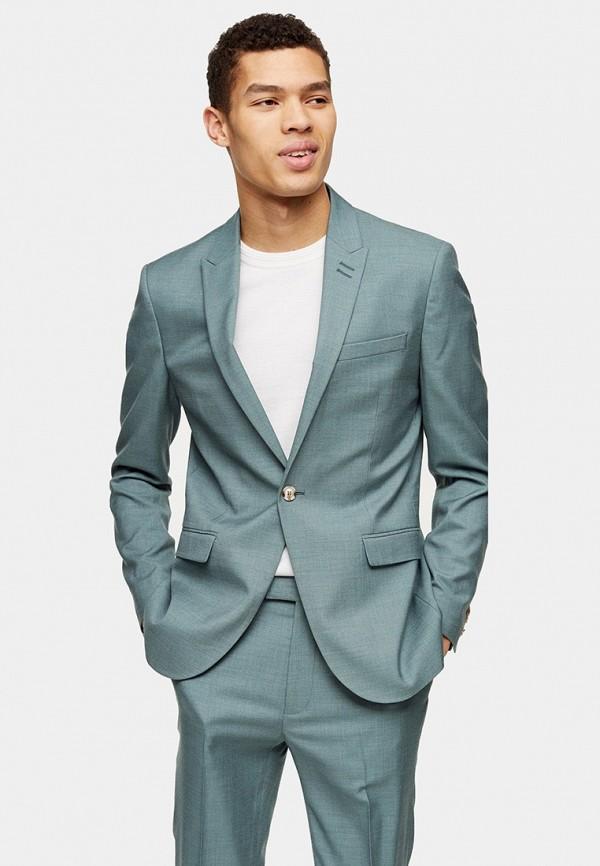 мужской пиджак topman, зеленый