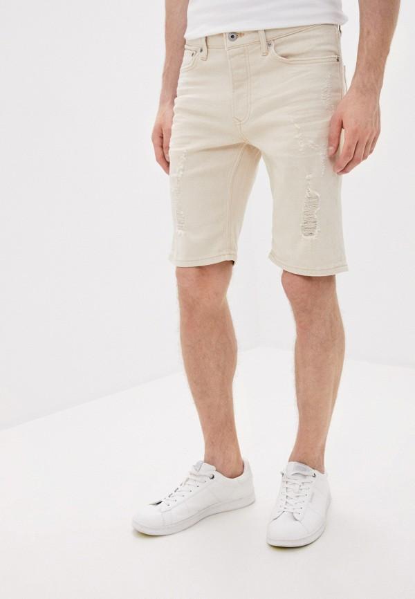 мужские повседневные шорты topman, бежевые