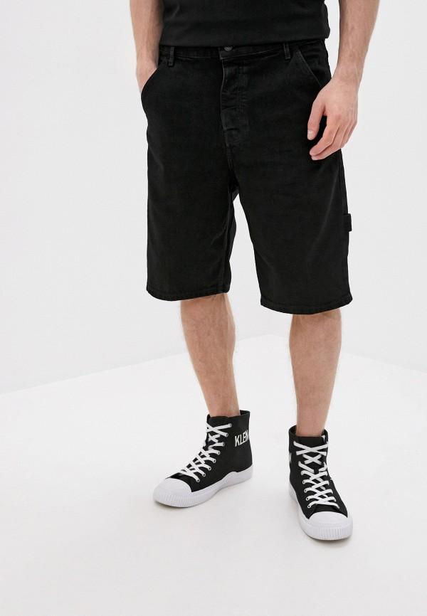 мужские джинсовые шорты topman, черные