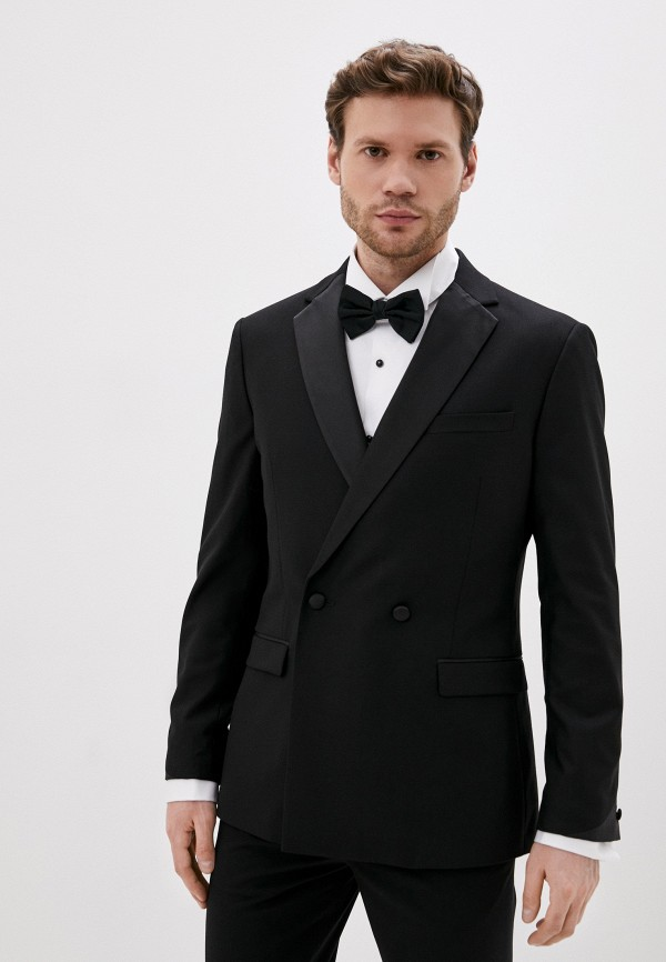 мужской пиджак topman, черный