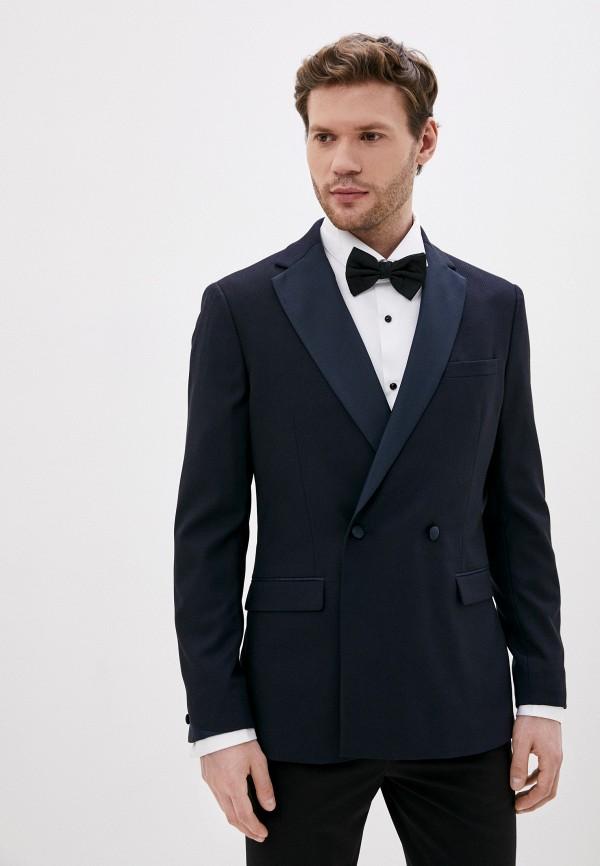 мужской пиджак topman, синий