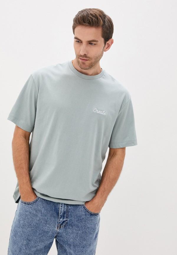мужская футболка с коротким рукавом topman, зеленая