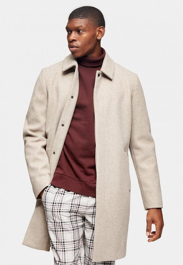мужское пальто topman, бежевое