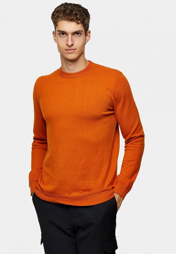 мужской джемпер topman, оранжевый