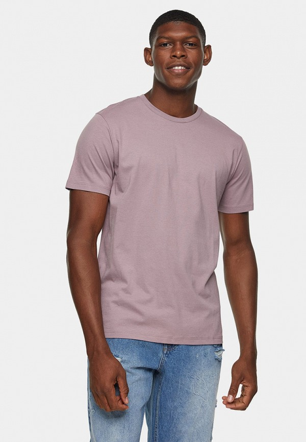 мужская футболка с коротким рукавом topman, розовая