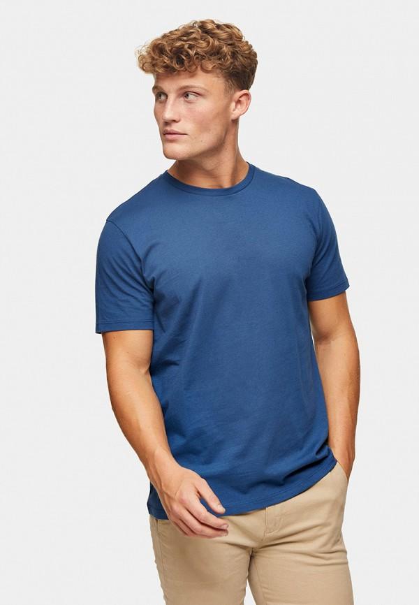 мужская футболка с коротким рукавом topman, синяя