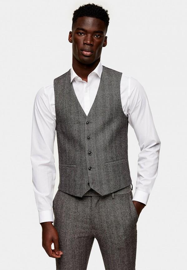 мужской жилет topman, серый