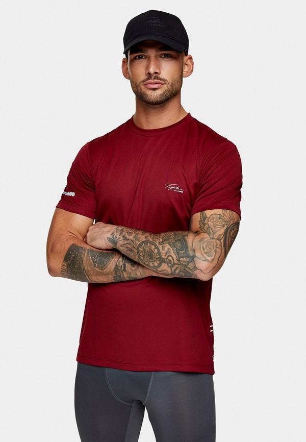 мужская футболка с коротким рукавом topman, бордовая