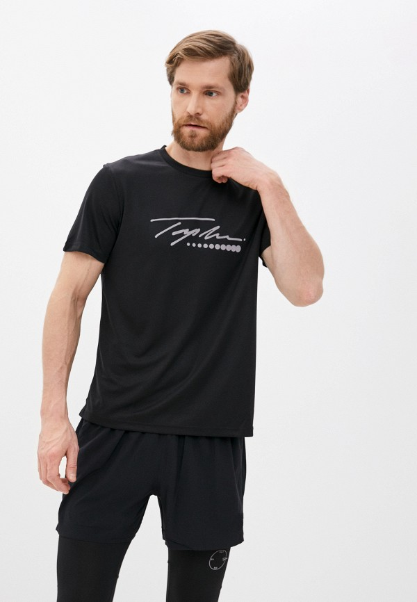 мужская спортивные футболка topman, черная