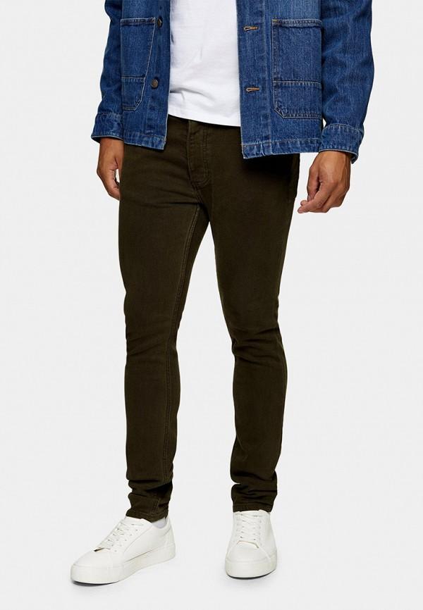 мужские зауженные брюки topman, хаки