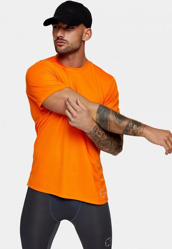 мужская футболка с коротким рукавом topman, оранжевая