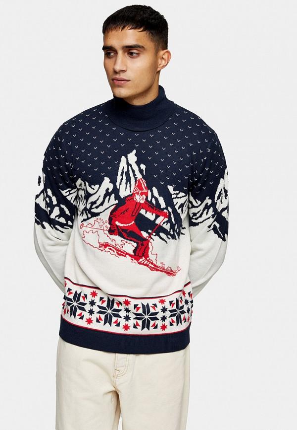 мужской свитер topman, синий