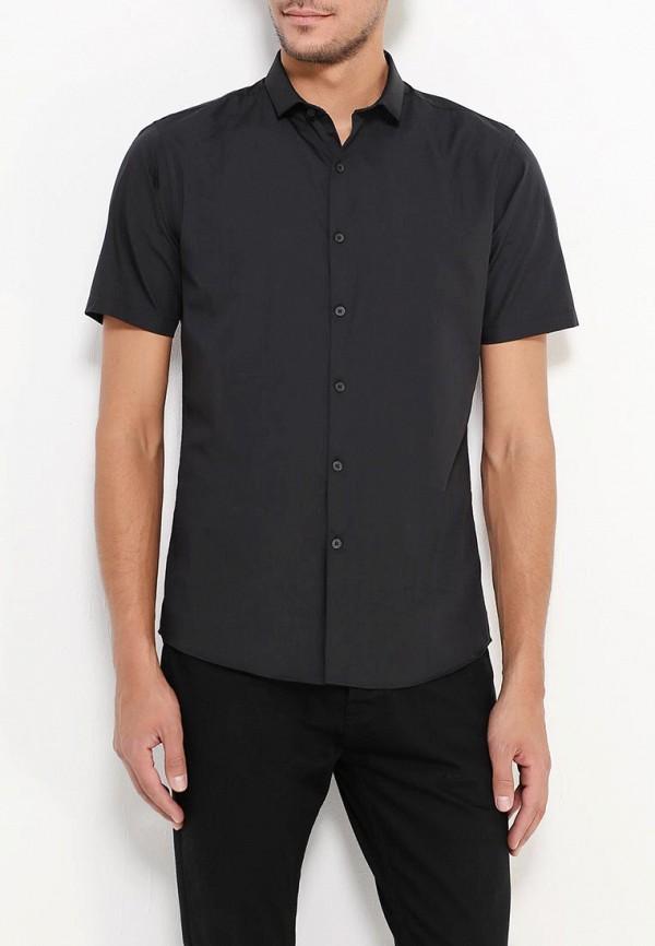 Фото 5 - Мужскую рубашку Topman черного цвета