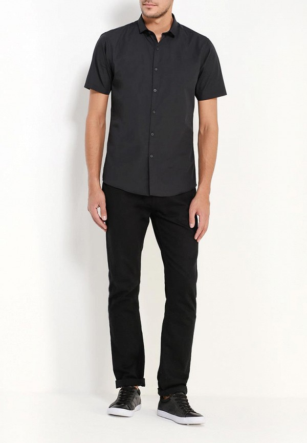 Фото 2 - Мужскую рубашку Topman черного цвета