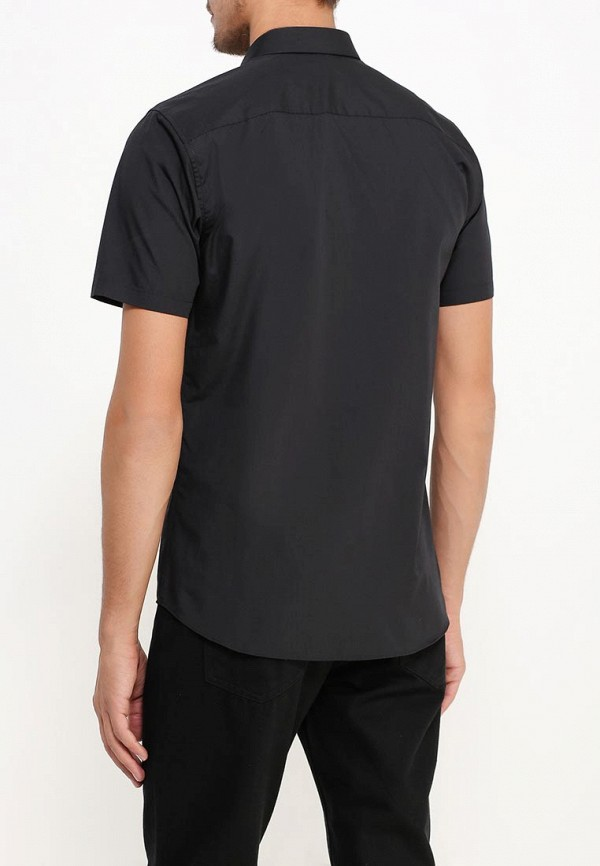Фото 7 - Мужскую рубашку Topman черного цвета