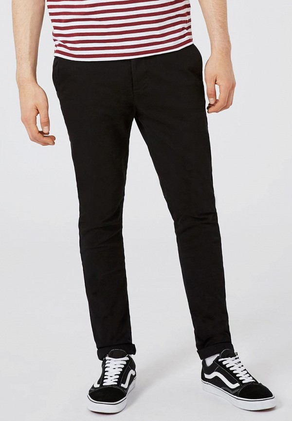 мужские прямые брюки topman, черные